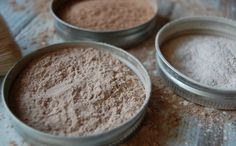 Homemade natural face powder is the easiest makeup to make! Just three ingredients and suddenly you've made your own face powder for practically pennies!