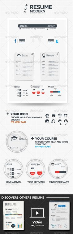 Clean \ Simple Resume Simple resume, Flyer design templates and - font on resume