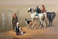 Hocine Ziani- Abu Dhabi, 1st day  oil on canvas, 120x160cm, 2008 private collection, Abu D