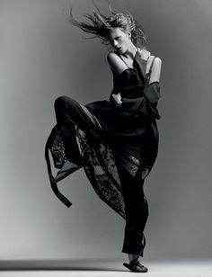 artist Julia Wachtel and Victor Demarchelier's fashion story starring Julie Hoomans for Numéro Art Magazine