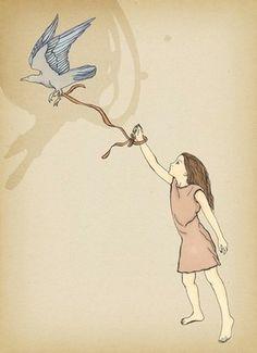 Bird and girl