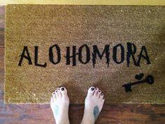 diy alohomora door mat - harry potter crafts