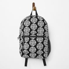 """""""Haven Troubled Guard Tattoo White Logo"""" Backpack by HavenDesign   Redbubble My Boutique, Gym Stuff, Stuff To Buy, Different Styles, Fashion Backpack, Traveling By Yourself, Print Design, Tattoo Designs, Just For You"""