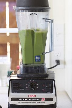Good Morning Green Smoothie- kale, spinach, banana, pineapple, mango and coconut water.