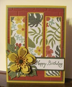 Botanical Blooms stamp set, Panel card