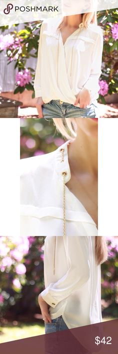 White Chain Blouse Info to follow Boutique Tops Blouses