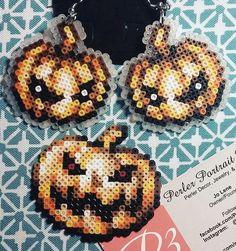 3d Perler Bead, Perler Bead Templates, Pearler Bead Patterns, Perler Patterns, Pearler Beads, Fuse Beads, Hama Beads Halloween, Beading For Kids, Adornos Halloween
