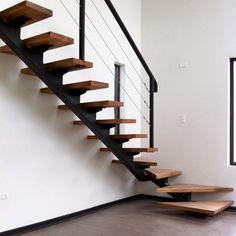 Metal Stairs, Loft Stairs, Modern Stairs, House Stairs, Home Stairs Design, Home Room Design, Interior Stairs, House Design, Luxury Staircase