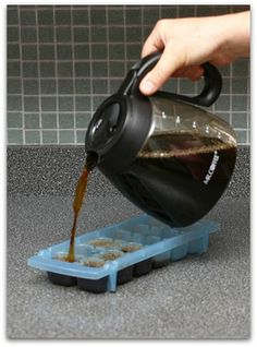 Make Coffee Ice Cubes - I will never have watered down iced coffee again