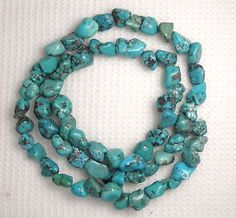 Turquoise-6mm-to-7mm-Nugget-Beads-Blue-Gemstome-Craft-Jewelry-16-Strand-581