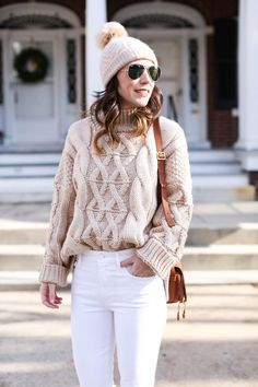 Cozy cable knit sweaters for winter.