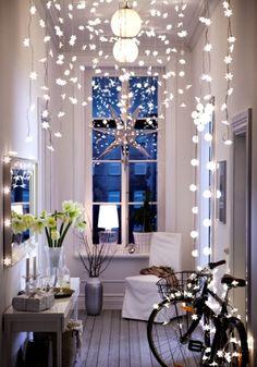 Des petites lumières partout pour réchauffer l'atmosphère