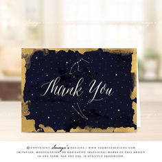 Thank-You-Card-Wedding-Thank-You-Note-Card-Starry-Night-Celestial-Stars-Constellation-Night-Sky-Navy-Blue-Gold-Thank-You-Card-by-Soumya's-Designs