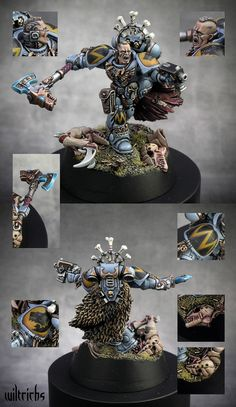 Space Wolves Battle Leader by Wil Davies - Silver 40K Single GDUK 2010.