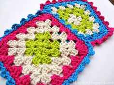 Party Cake Dishcloths ~ free pattern