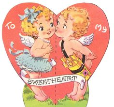 Vintage Valentine printable from Creative Breathing: Valentines 1/24/13. Six more images available on this blogpost.