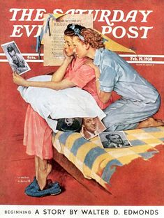 """Giclee Print: """"Movie Star"""" Saturday Evening Post Cover, February by Norman Rockwell : Norman Rockwell Prints, Norman Rockwell Paintings, Peintures Norman Rockwell, Saturday Evening Post, Artist Gallery, Pics Art, American Artists, Belle Photo, Retro"""