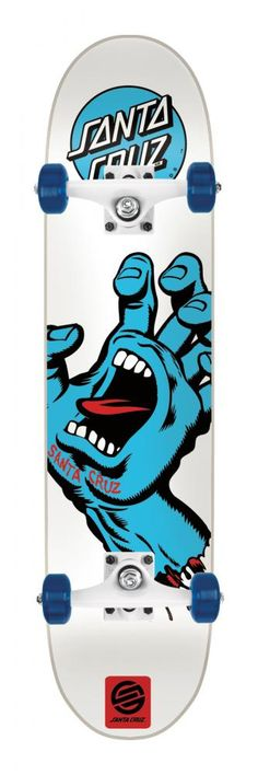 Santa Cruz Complete Screaming Hand White/Blue 7.75 Inch