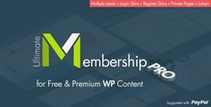 Ultimate Membership Pro is the newest and the best Membership WordPress Plugin…