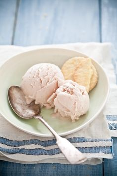 Roasted Peach Lavender Ice Cream & Lemon Salt Shortbread Cookie