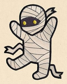 Free Embroidery Design: Too Cute Mummy - I Sew Free Machine Embroidery Applique, Free Machine Embroidery Designs, Embroidery Files, Machine Quilting, Embroidery Patterns, Hand Embroidery, Wood Yard Art, Embroidery Boutique, Halloween Embroidery