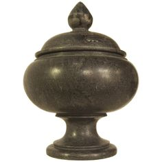 Good Noir Black Marble Urn Large AC113L