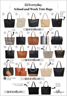22 Everyday School and Work Tote Bags That Are Actually Large Enough - The  Ashley Edit b64b26c411