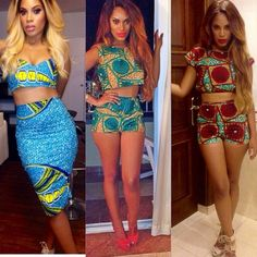 I have a thing for Ankara #throwbackthursday not too long ago .... Watch My tan though I need  a little ☀️ in my life ... Outfits by @cocobecky
