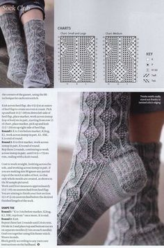 Knitted Mittens Pattern, Crochet Socks, Knit Or Crochet, Knitting Patterns, Knitting Stitches, Knitting Socks, Hand Knitting, My Socks, Cool Socks
