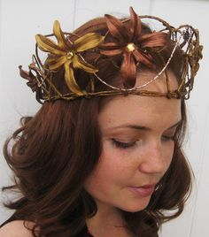 Rustic Fairy Crown by Frecklesfairychest on Etsy, $50.00