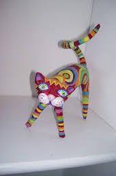 Résultats de recherche d'images pour «gato papel mache»