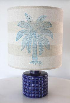 cobolt poole pottery lamp