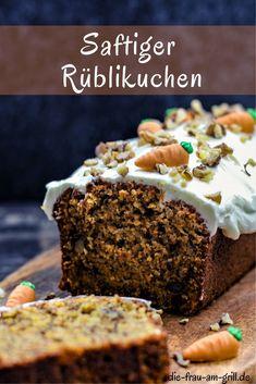 Dieser saftige Rüblikuchen ist ein schnelles und leckeres Rezept. Internationale Küche, da aus der Schweiz. Perfekt für die Familie zum Dessert oder aber auch auf einer Party! #kuchen #backen #rüblikuchen #karotte #karotten #carrotcake #karottenkuchen #dessert #süßspeise #naschen #sommer #rezept #rezepte #vegetarisch #familienessen #gesund #lecker Snacks Für Party, Fabulous Foods, Cupcakes, Grilling, Silvester Party, Sweets, Desserts, Recipes, Quick Cake