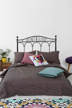 Let's Not Sleep Headboard Wall Decal #urbanoutfitters