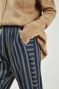 Mensy Stripe Peg Trouser - New In- Topshop