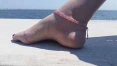 Anklets For Women Beaded Anklet Bracelet Pink Seed Bead Anklet Beach Anklet Foot Jewelry Anklet Bracelet, Bracelets, Beaded Bracelet, Beach Feet, Tattoos Skull, Foot Tattoos, Beach Anklets, Women's Anklets, Ankle Jewelry