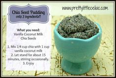 2 ingredient chia seed pudding!