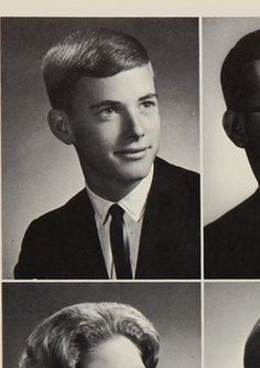 Former Vice President Dan Quayle in his 1965 yearbook at Huntington high school in Huntington, Indiana. High School Photos, High School Yearbook, In High School, Huntington Indiana, Dan Quayle, Old Yearbooks, Young Celebrities, Celebs, Yearbook Pictures