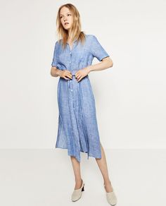 Pin for Later: The 17 Zara Pieces You'll See Fashion Girls Wearing Everywhere This Summer  Linen Shirtdress ($70)