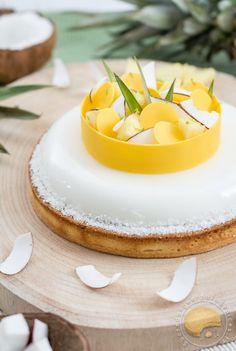Tarte exotique : coco / ananas / passion - Sucre d'Orge et Pain d'Epices