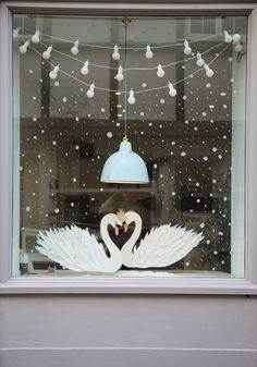 No automatic alt text available. Boxing Day, Winter Window Display, Window Displays, Christmas Window Decorations, Christmas Window Display Home, Christmas Windows, Cozy Christmas, Vitrine Design, Wedding Window