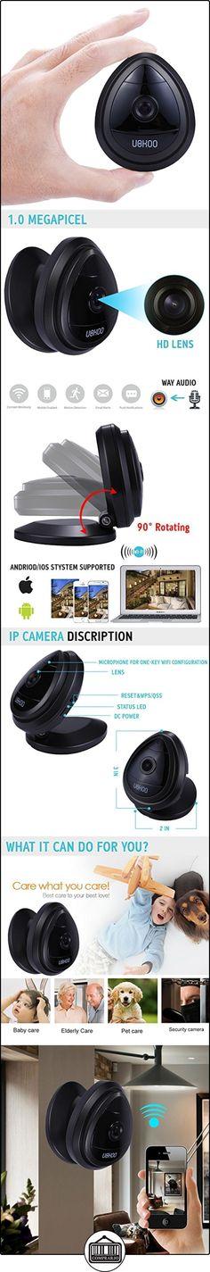 Mini IP Camera, H.264 720p Home Surveillance Camera Wireless Webcam Built in Microphone with One Key Wi-fi Configuration App, Motion Detection & Remote View by NOA  ✿ Vigilabebés - Seguridad ✿ ▬► Ver oferta: http://comprar.io/goto/B017U6KAO2