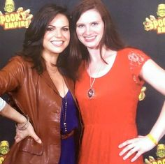 Awesome Lana and my awesome Once friend Samantha Lauren Busa #SpookyEmpire Orlando Florida Saturday 5-16-15