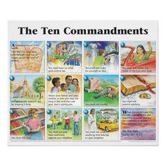 The Ten Commandments (NIV) Print