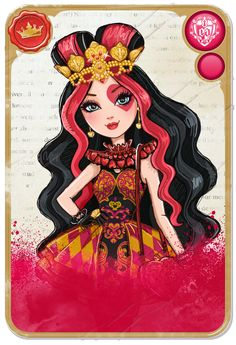 Lizzie Hearts™ ::  Daughter of the Queen of Hearts - Ever After high - poem