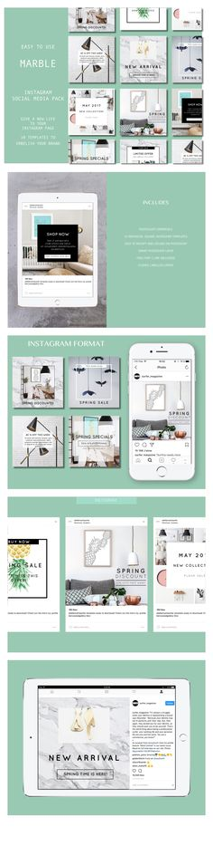 Social Media Template, Social Media Design, Business Profile, Spring Is Here, Instagram Accounts, Compliments, Improve Yourself, My Design, Photoshop