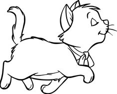 nice Walking Disney The Aristocats Coloring Page Unicorn Coloring Pages, Coloring Pages For Boys, Cartoon Coloring Pages, Disney Coloring Pages, Coloring Book Pages, Sketch Painting, Watercolor Sketch, Disney Cat Characters, Gata Marie