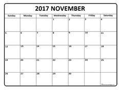 November 2017 printable calendar page | It Works | Pinterest ...