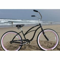 Women's 26 inch Cruiser Bicycle by Firmstrong. The Urban Lady Single Speed, Red is a comfortable and cute cruiser bike for women. Beach Cruiser Bikes, Cruiser Bicycle, Beach Cruisers, Bicycle Shop, Online Bike Shop, Pink Rims, Push Bikes, Touring Bike, Vintage Bikes