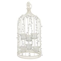 Tea Light Holder for 6 Candles Jewelled Birdcage Wedding Table Decoration Ivory for sale Cheap Wedding Decorations, Wedding Table Centerpieces, Table Decorations, Wedding Ideas, Centrepieces, Diy Wedding, Wedding Stuff, Wedding Inspiration, Wedding Lounge